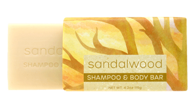 Greenwich Bay Shampoo and Body Bar - Sandalwood 1 Bar (4.2 oz)