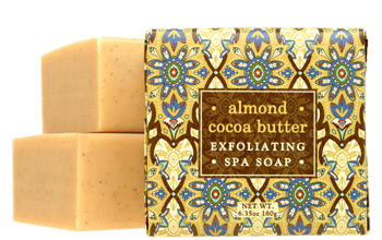 Greenwich Bay Soap - Almond Cocoa Butter Exfoliating Spa Soap (6.35 oz) 1 Bar