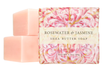 Greenwich Bay Soap - Rosewater & Jasmine Shea Butter (6.35 oz) 1 Bar