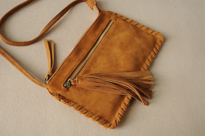 Fringe is IN! Get your Leather boho bag for this summer!