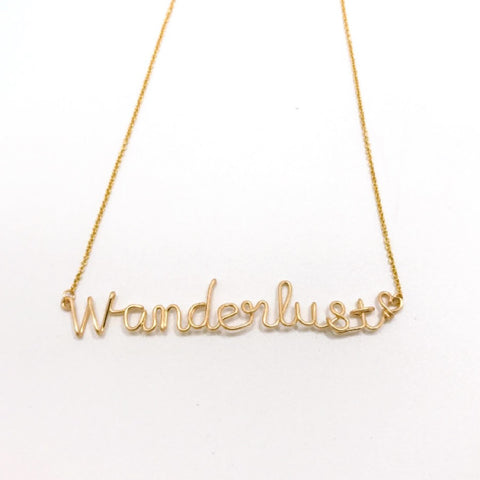wanderlust hand-crafted custom necklace