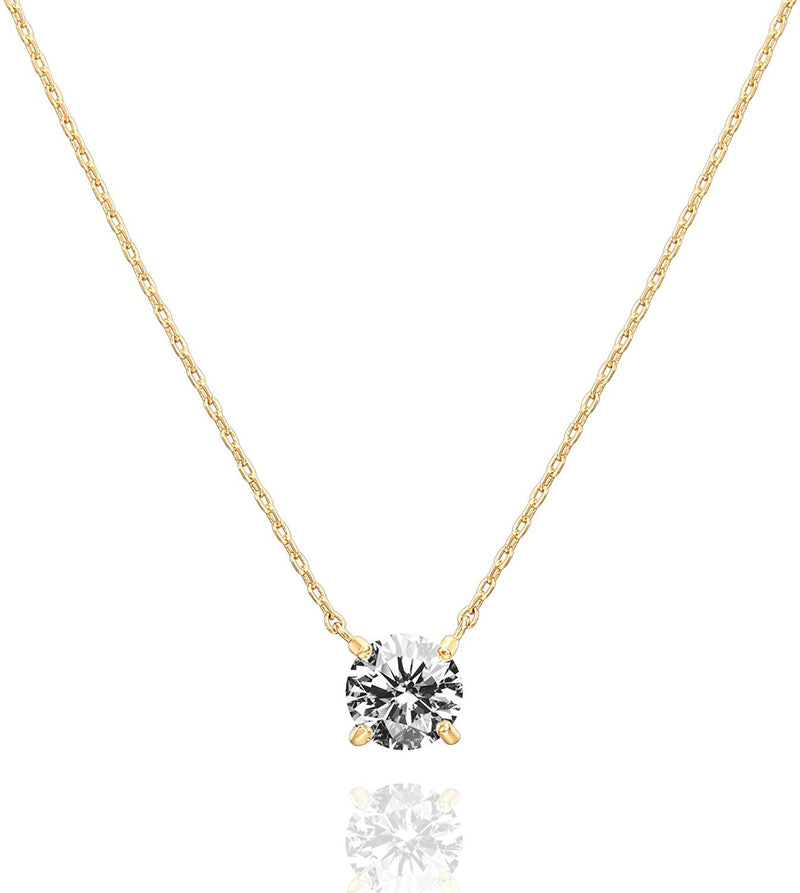 Swarovski Crystal Solitaire Choker Necklace