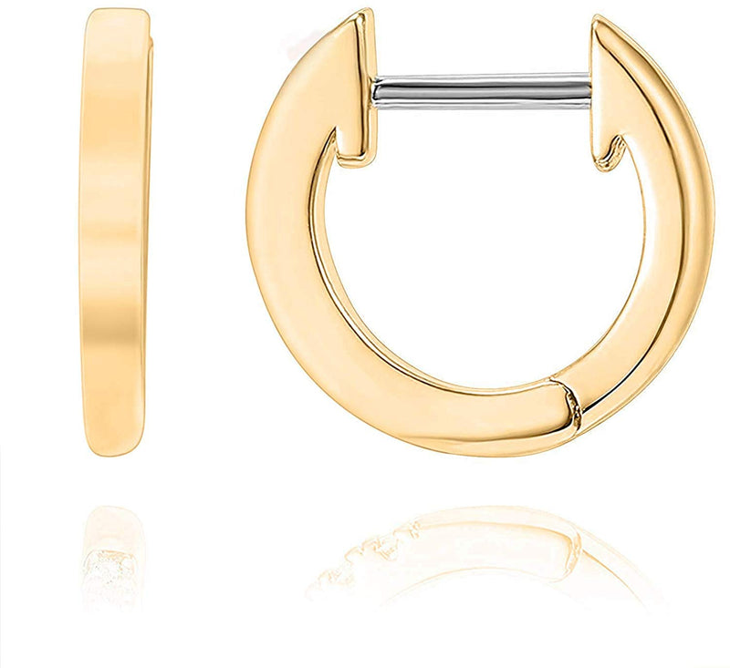 Huggie Hoop 14K Gold Earrings