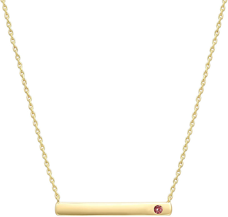 Swarovski Crystal Birthstone Bar Necklace