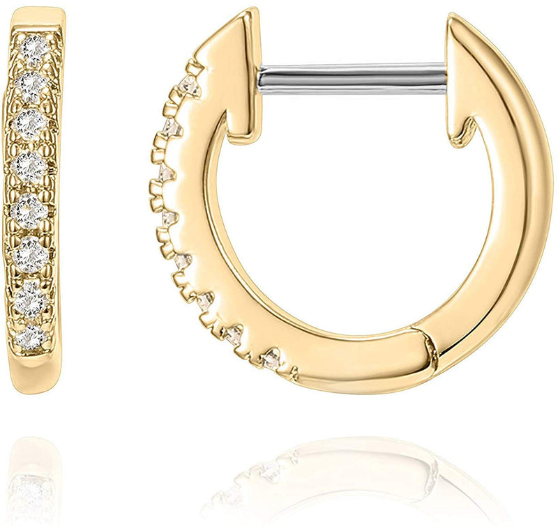 Huggie Hoop Diamond Earrings