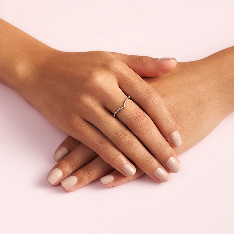 Sparkling Wishbone Ring