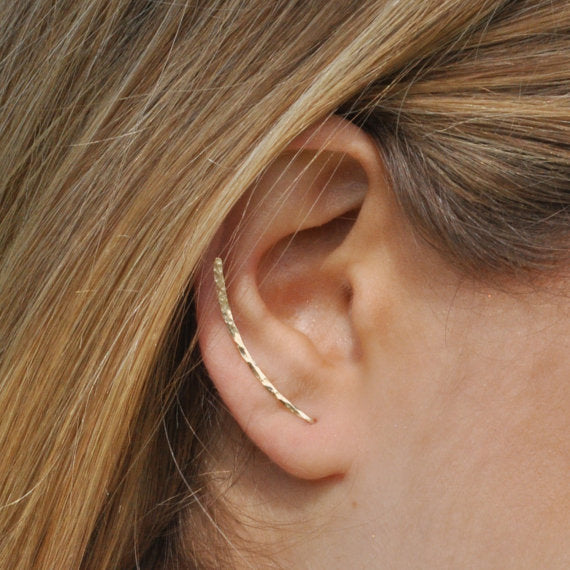 Hand Hammered Climber Earrings - Kalyn's Finds
