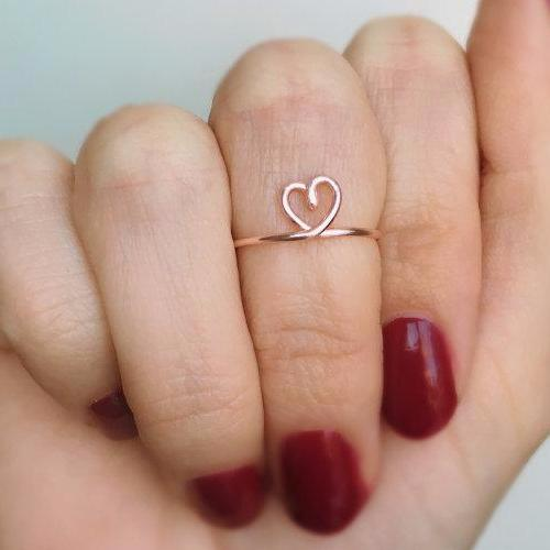 Midi Heart Ring - Kalyn's Finds