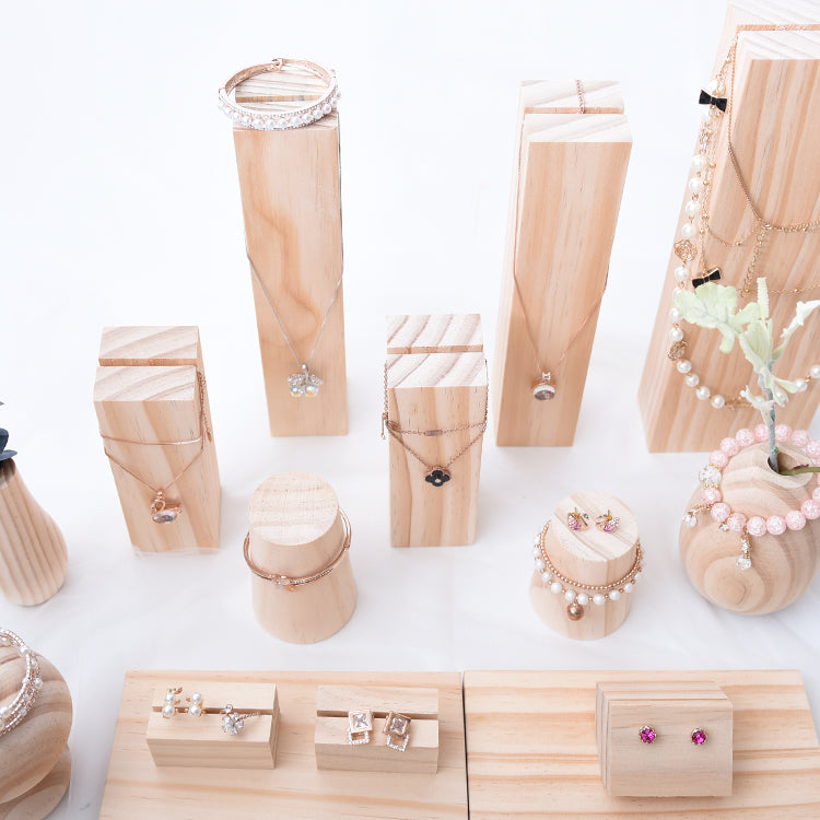 Wood Jewelry Market Display - Kalyn's Finds