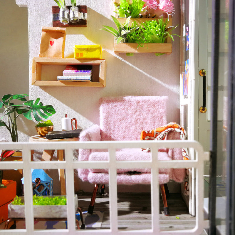 DIY Daydreaming Fairy Garden Apartment with Balcony & Atrium - Kalyn's Finds