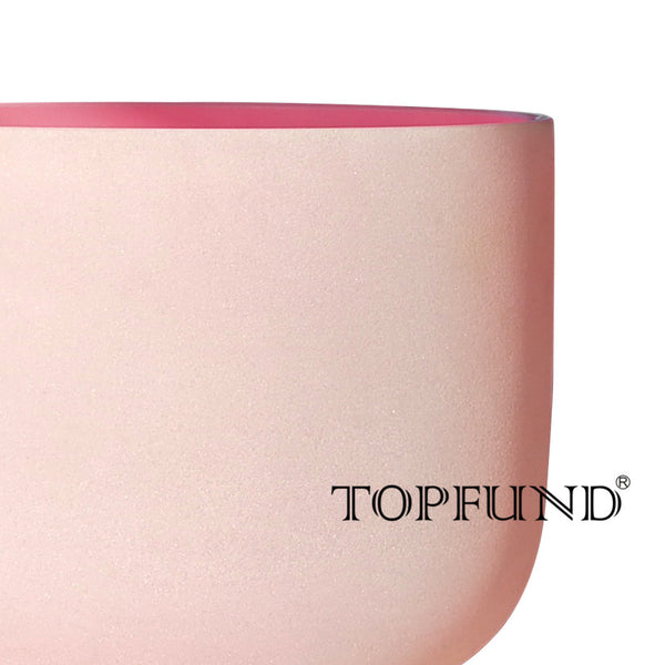 "Frosted Rose Quartz Crystal Singing Bowl  > F Note > Heart Chakra > Pink 10"" Bowl"
