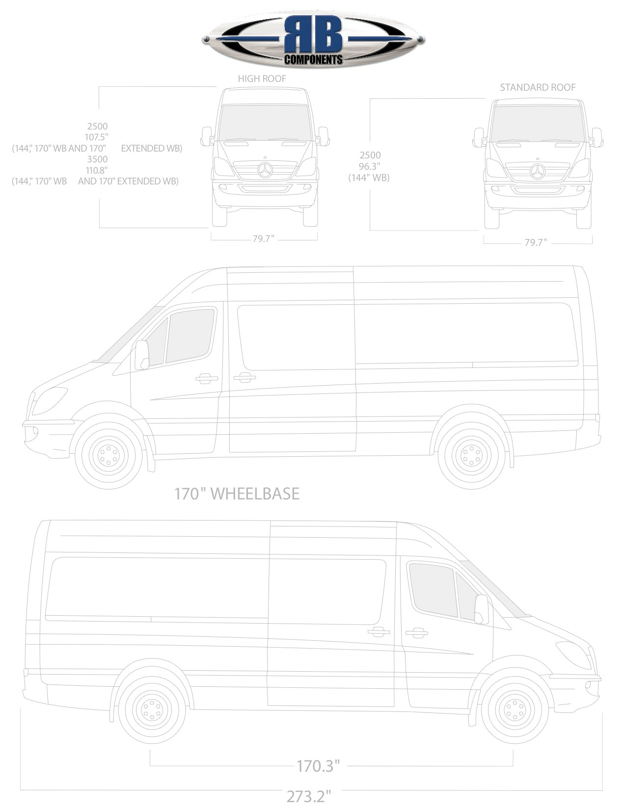 Sprinter Floorplan Templates 144 170 170 Ext Rb