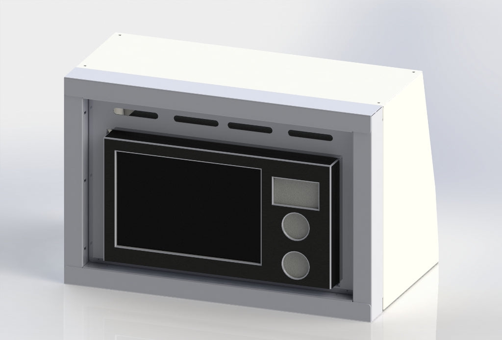 "Sprinter Van Microwave Cabinet, 16""H x 14""D x 24""W - Grey/Black - Includes Microwave"