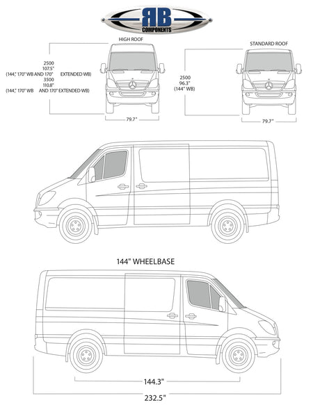 Sprinter Floorplan Templates 144' / 170' / 170 EXT