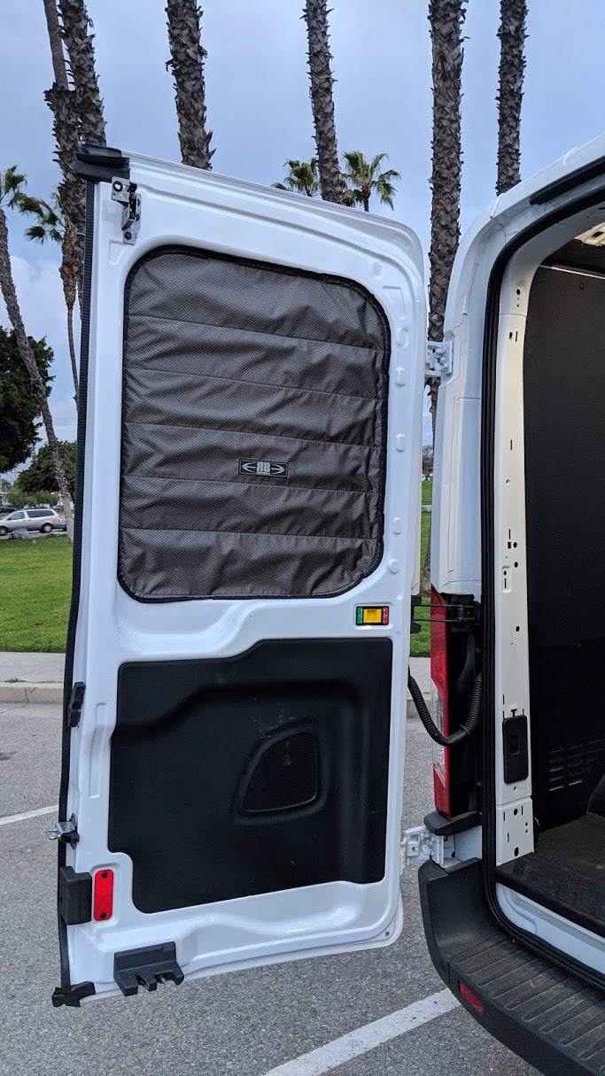 2014 + Ford Transit Fabric - Magnetic Rear Door Window Shade Set