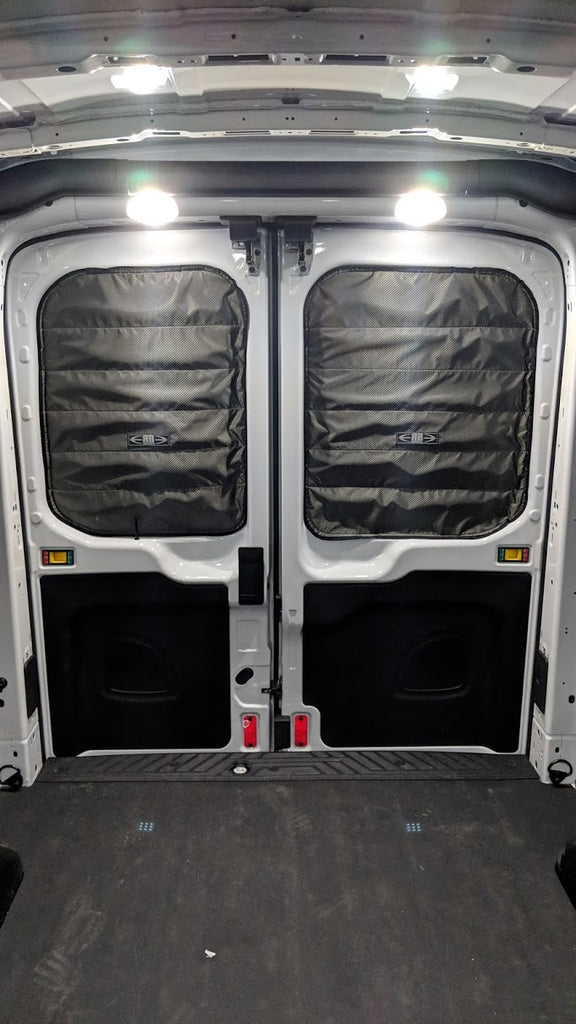 2014 Ford Transit Fabric Magnetic Rear Door Window