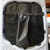 2019+ Sprinter Van Fabric - Rear Door Window Shade & Stuff Bag Kit