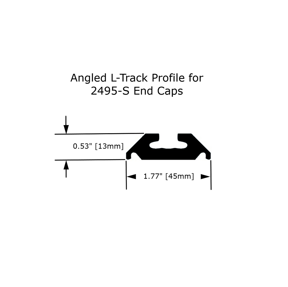 Heavy Duty L-Track End Cap (2 Pack)