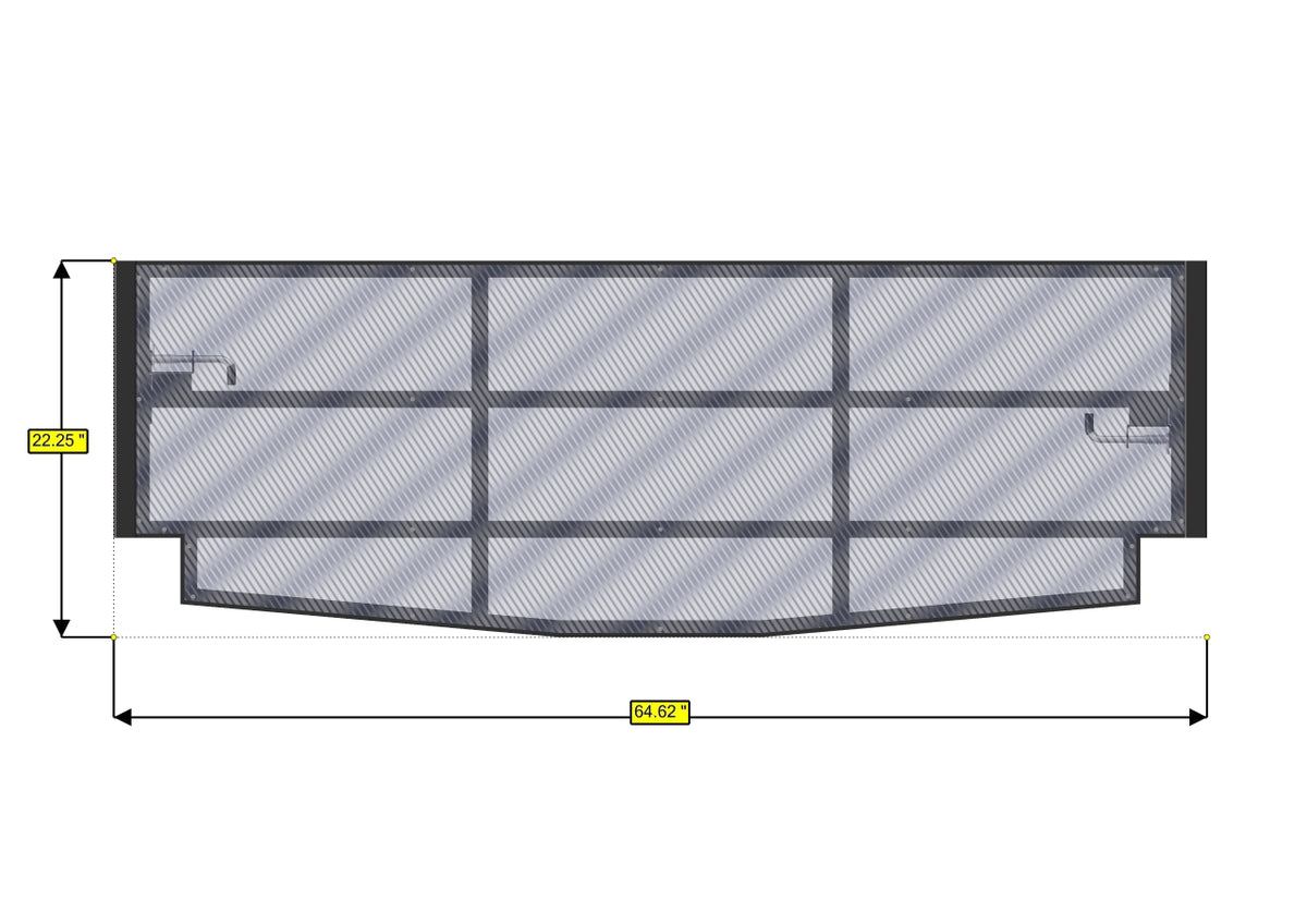 Panel Bed Frame, 45in H - 16.375in W, Extension