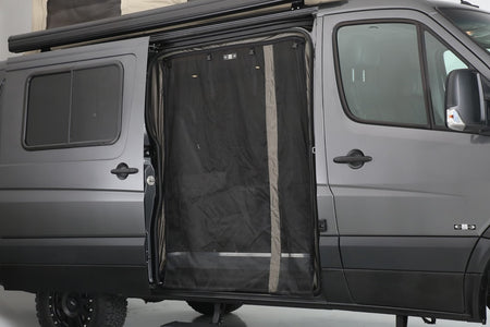 07 + Sprinter Van Fabric - Low Roof Passenger Side Sliding Door Bug Net