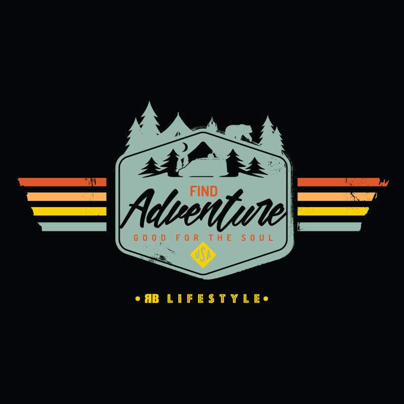 Find Adventure Mens, 50/50 Cotton/Poly, Heather Blend Tee, Black