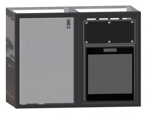 "48"" Galley, No Counter Top, Cabinet, w/ Norcold Refrigerator and Cabinet"