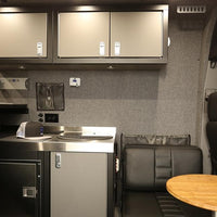 "Sprinter Van Wall Cabinet, 16""H x 14""D x 24""W RHH - Grey/Black"