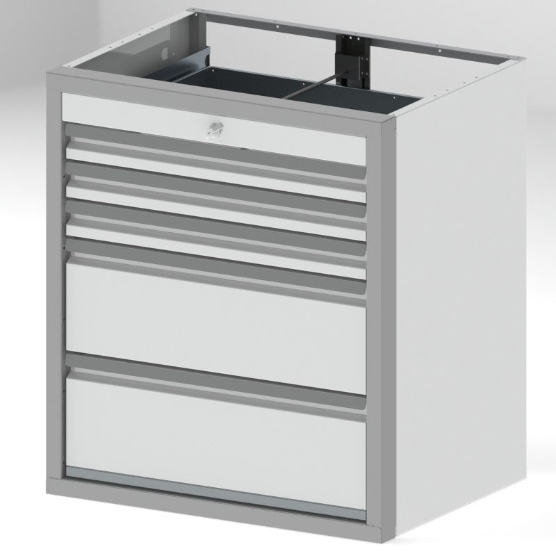 "Tool Box Cabinets Option 2 - 36""H x 24""D x 32""W, 3-3"", 2-9"" Drawers"