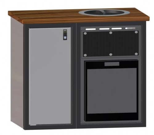 42 galley wooden counter top cabinet w norcold for The galley sink price