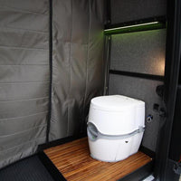 "07+Sprinter Van Removable Shower Pan Passenger Side 144""WB"