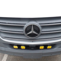 2019+ Sprinter Van Front Light Bracket - 4 Amber Baja Designs Squadron Light Kit