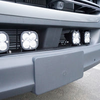 2019+ Sprinter Van Front Light Bracket - 4 Baja Designs Squadron White Light Kit