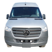 2019+ Sprinter Van Front Light Bar - 2 White Baja Designs Squadron Light Kit