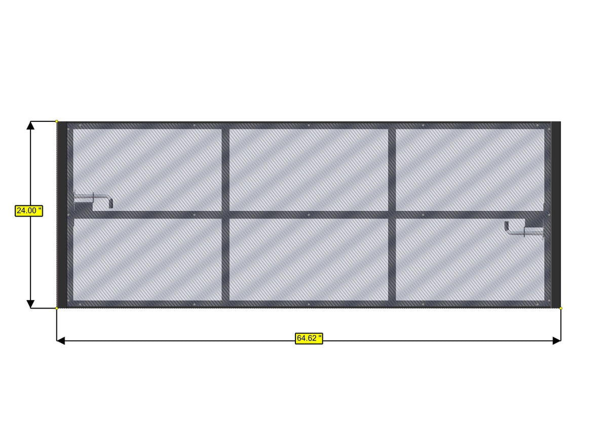 Panel Bed Frame, 45in H - 24in W