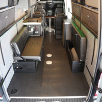 "58"" Rear Dinette/Bed Setup for 07+ Sprinter Vans - Grey Cloth"