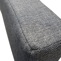 "Fabric-Loose Back Rest Triangle Cushion-Use w/Folding Bench Seat-76"", Northshore Charcoal"