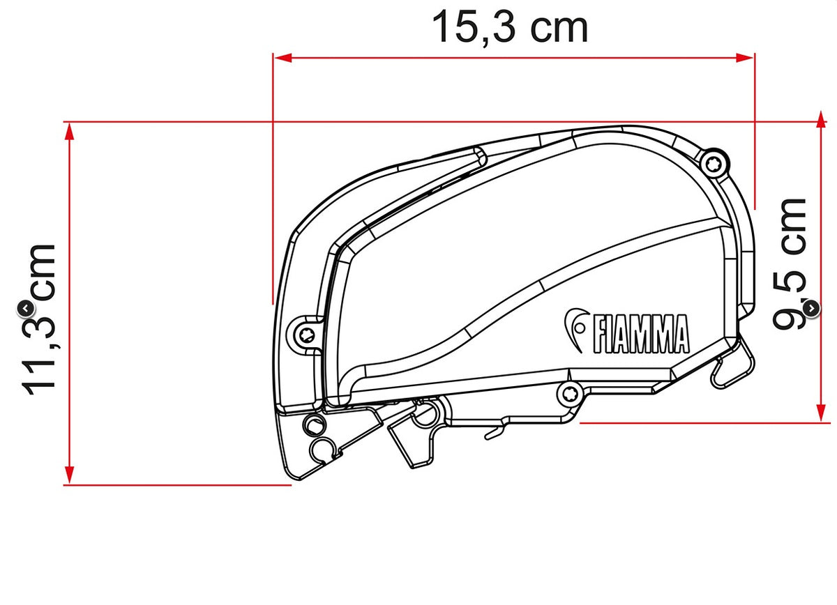 """NEW"" Fiamma Top Mount Awning F80 S - 170"""