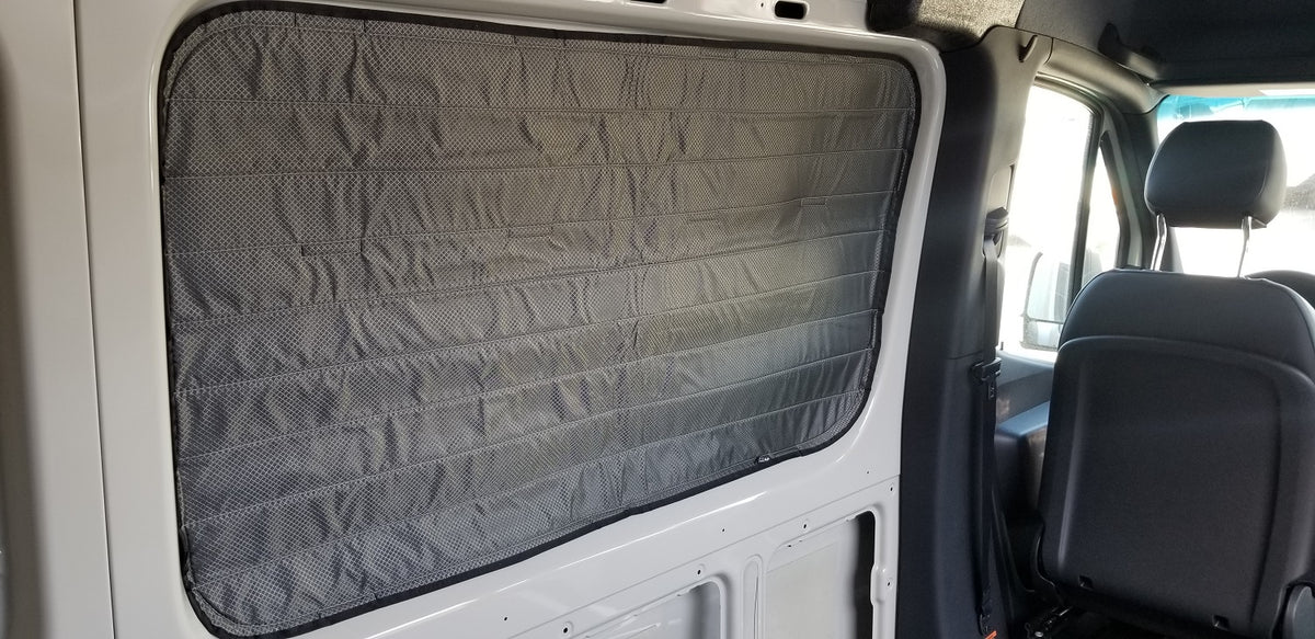 2007+ Sprinter Van Fabric - Magnetic DS Front Galley Window Cover, Inset