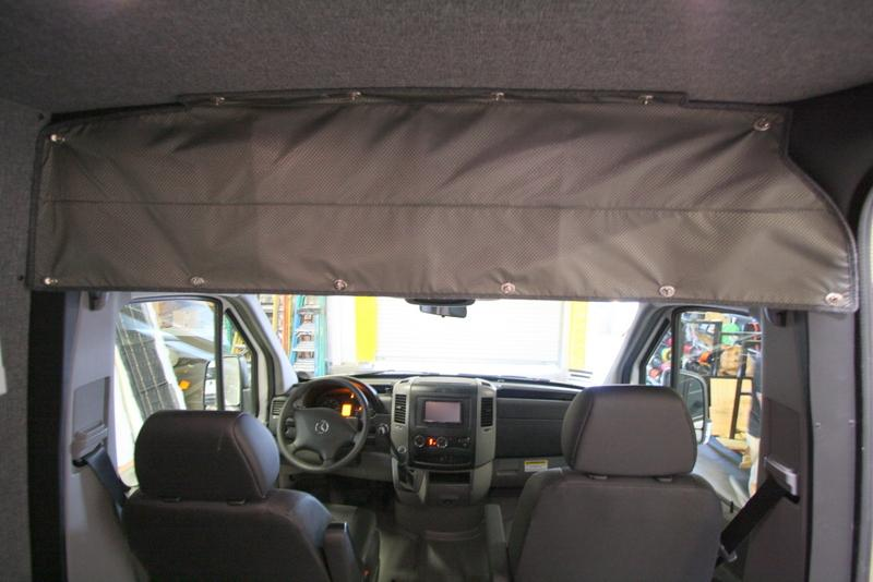 2007+ Sprinter Van Fabric - Headliner Shelf Upper Closure