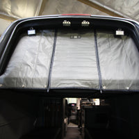"2007+ Sprinter Van Fabric - Rear Door Fabric Partition With 18"" Center- 45"" of Floor Height"