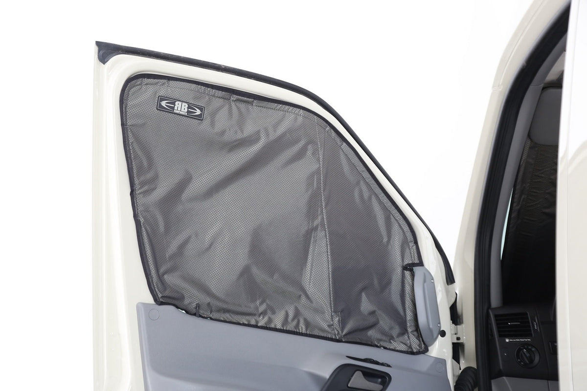07+ Sprinter Van Fabric - Front Window Shade Kit, with Magnetic Side Window Shades