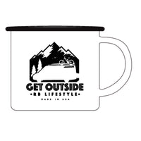 10oz Get Outside Enamel Camp Mug