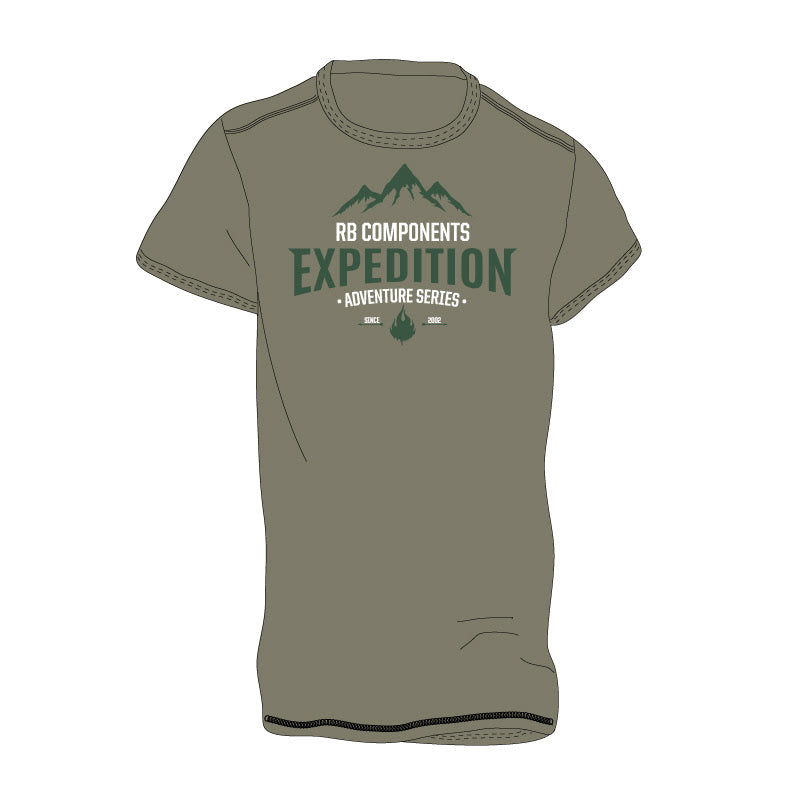 Expedition Fire Mens, 50/50 Cotton/Poly, Heather Blend Tee, Olive