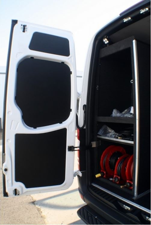 2007 2018 Sprinter Van Rear Door Panel Kit 3 Pc Black