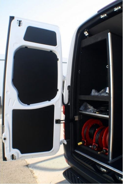 07+Sprinter Van Rear Door Panel Kit 3 pc Black