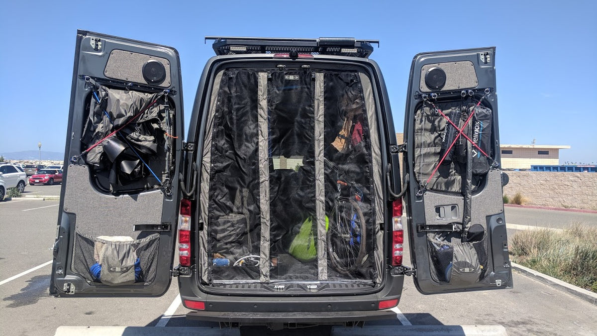 2019+ Sprinter Van Fabric - High Roof Rear Door Bug Net