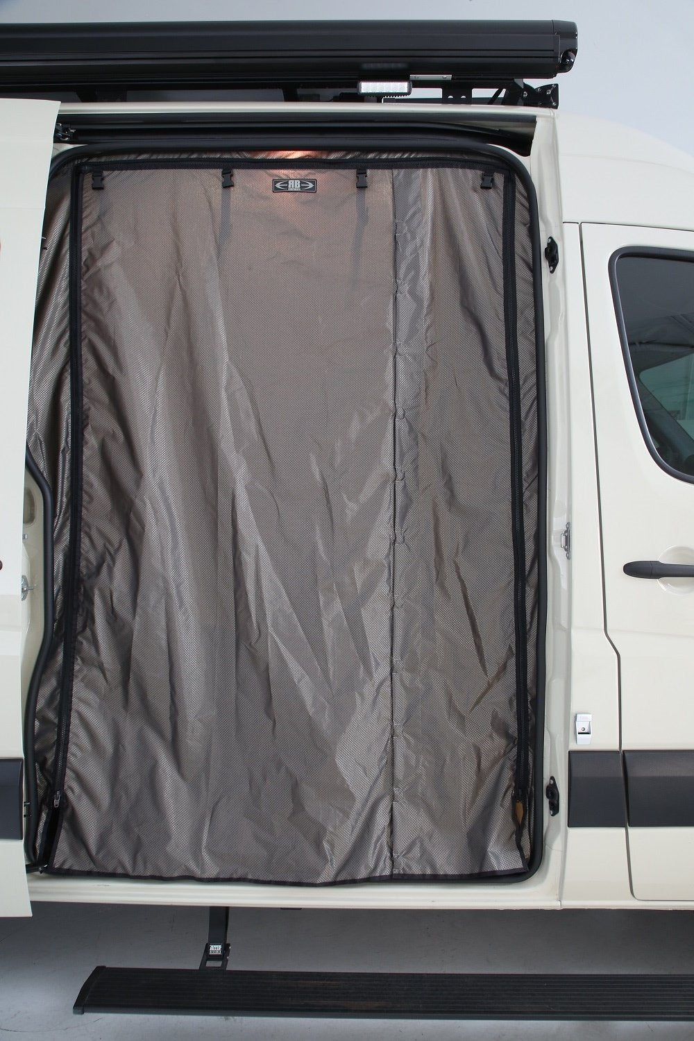 2007+ Sprinter Van Fabric - Passenger Sliding Door Bug Net + Solid Cover Set