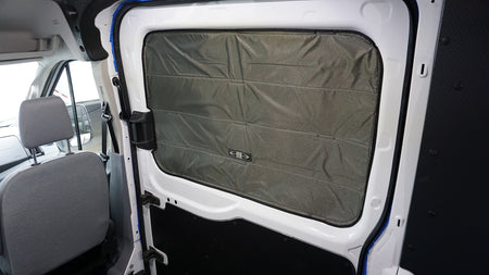 2014 + Transit Van Fabric All Magnetic Sliding Door Window Shade - Passenger Side
