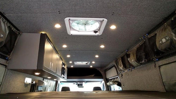 07+ Sprinter Van Ceiling Liner Kit 170 WB Upholstered Plywood