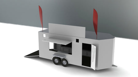 20' V Nose Display Trailer